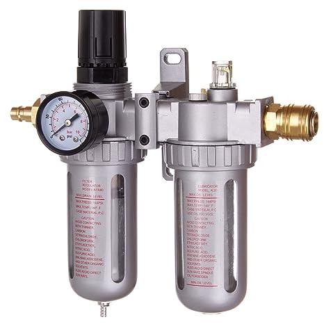 Unidad de mantenimiento de aire comprimido manorreductor Lubricador para compresor Impacto de acoplamiento rápido