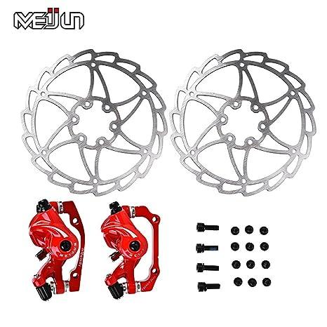 Mechanical Disc Brake Bike Cycling Bicycle Front Rear Caliper Rotors JB