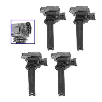 Amazon com: Ignition Coil Pack Kit Set of 4 for 03-11 Saab 9