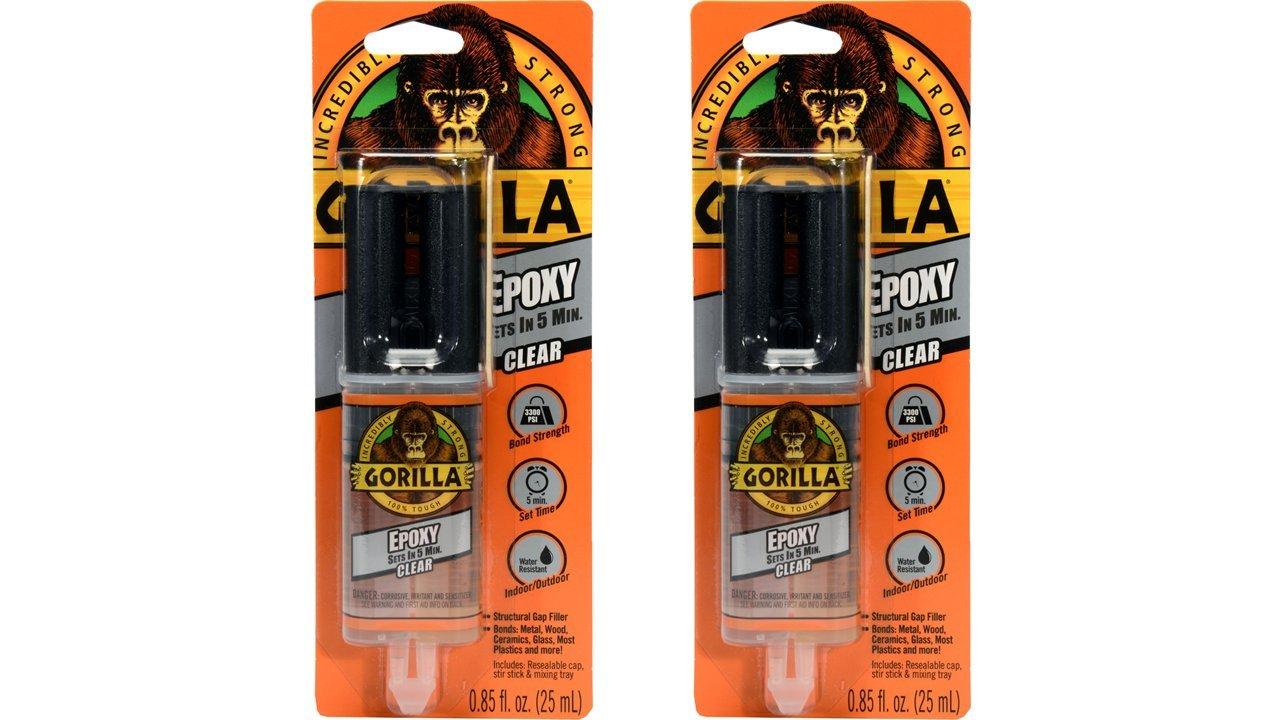 Gorilla 4200101-2 Epoxy (2 Pack).85 oz, Clear
