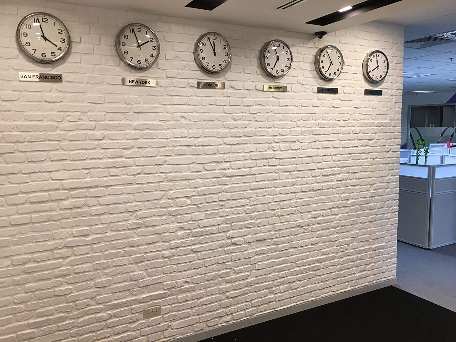 Faux Brick Wall Panels, 3D Wall Panel Resin Fiberglass Material for tv Background Wall, Indoor and Outdoor Wall (32 sq.ft/Box, Matt White, FRP Church)