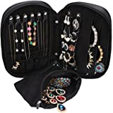WODISON Zipper Carry-on Travel Jewelry Case Organizer with Removable Pouch