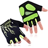Cool Wind Cycling Gloves Biking Gloves Mountain Bike Gloves For Men Gloves Natural Palm Rubber 5mm Gel Pad Shock-absorbing Breathable To Reduce 92% Friction Touch Screen Gloves