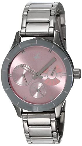 2. Fastrack Monochrome Analog Pink Dial Watch