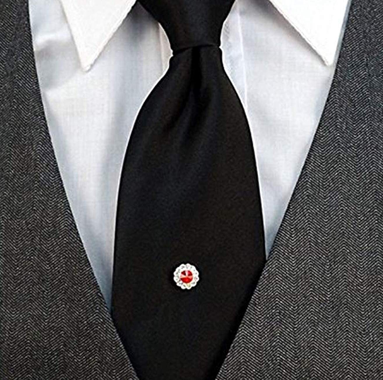 Red Stone Mens Holiday Tie Tack