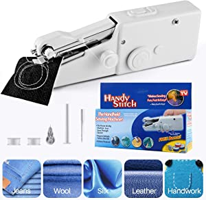 Lansen Portable Sewing Machine, Mini Sewing Professional Cordless Sewing Handheld Electric Household Tool - Quick Stitch Tool for Fabric, Clothing, or Kids Cloth Home Travel Use610