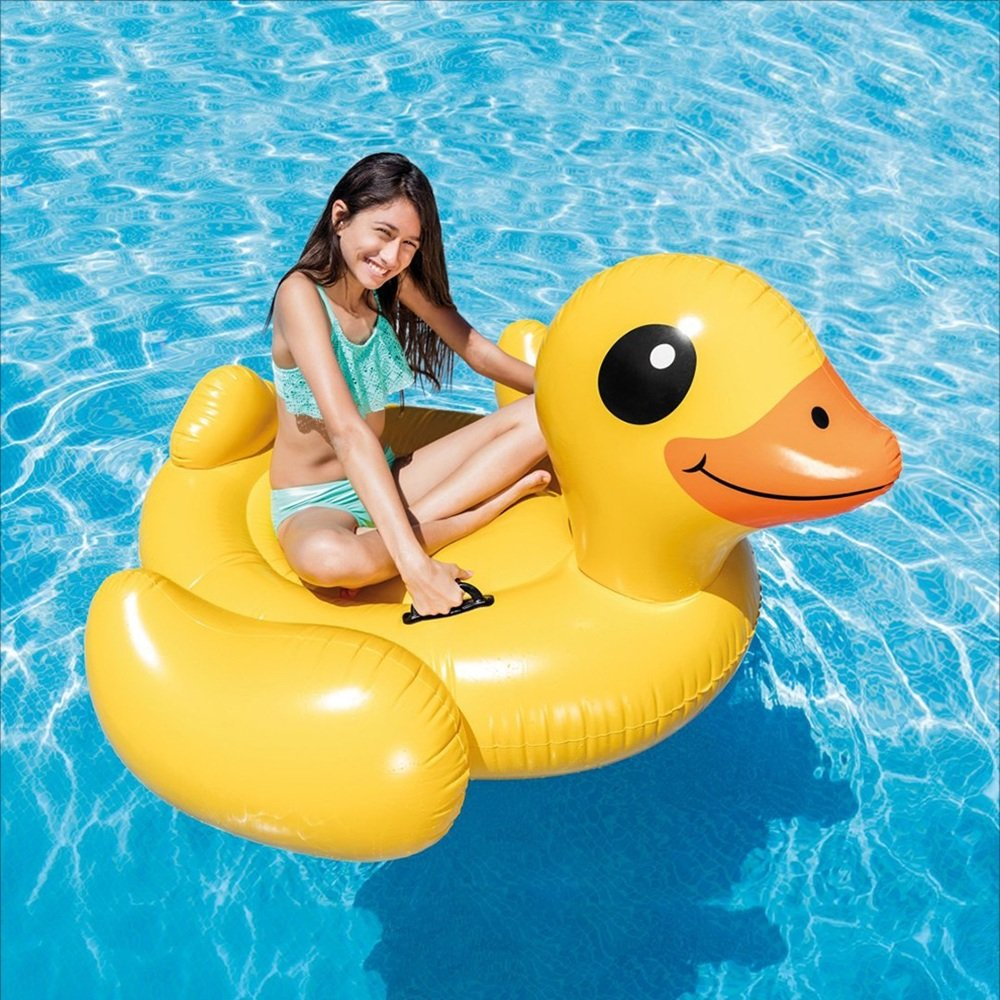 Fly Small Yellow Duck Floating Row Water Floating Row Recreation Floating Row Floating Ring Mount Inflatable Floating Row by Fly (Image #2)