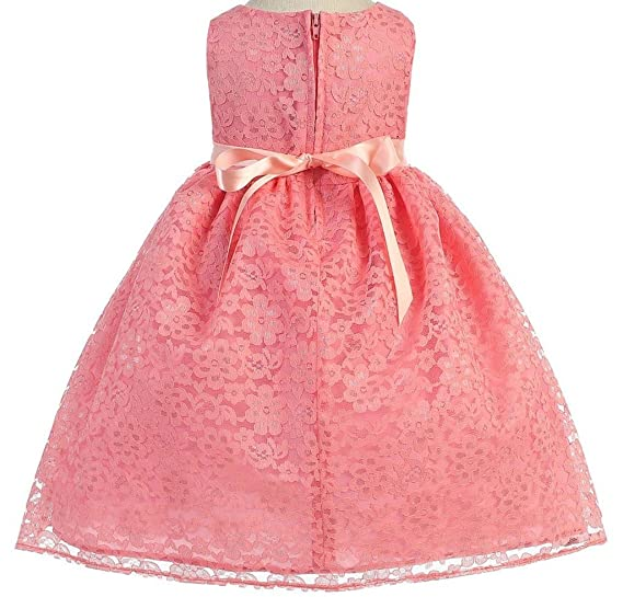 f156a448c Amazon.com  Little Baby Girls  Lovely Floral Lace Cute Wedding ...