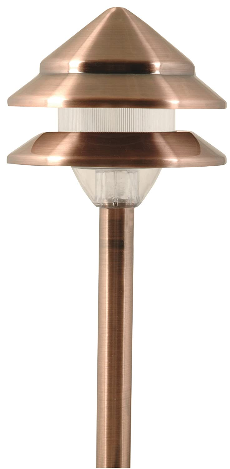 moonrays 95871 marion style low voltage metal 3 tier path light