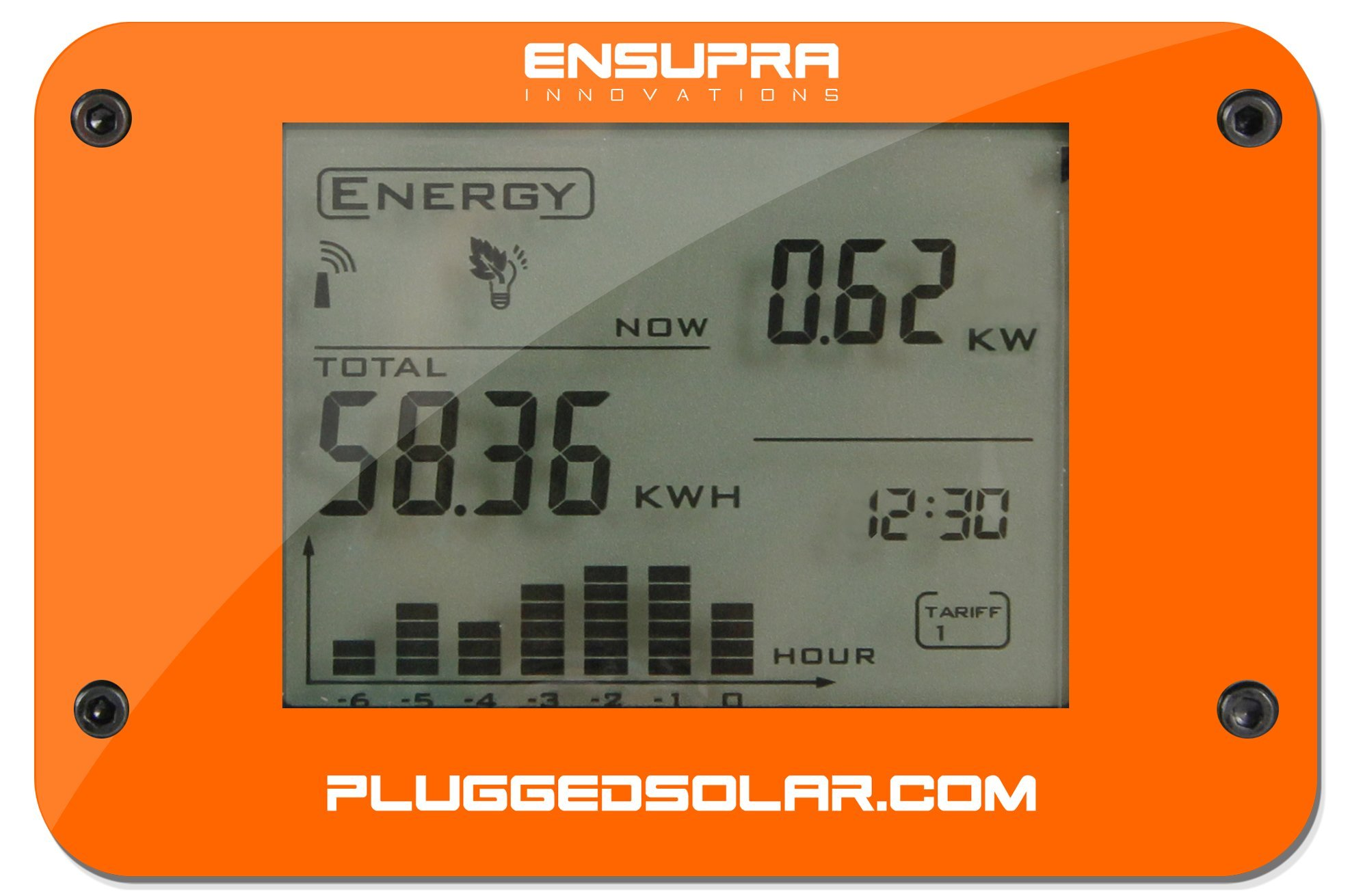 Wireless Solar Power Meter for Solar Power (AC), Monitor Displays Live KW (Kilo-Watts of AC Power Generation), Records the Solar PV Electricity Prodtion in Kwh, Shows Money Savings and Co2 Avoiaded. Used also for Monitoring Electricity Generation from Win by Plugged Solar (Image #3)