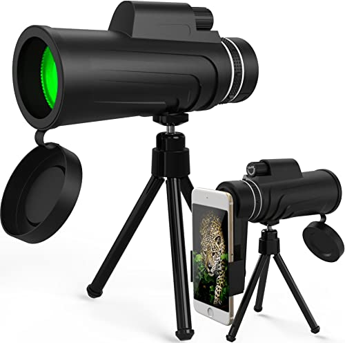 Monocular Telescope, Splaks 12×50 High Power Dual Focus Monocular Scope Waterproof and Fog Proof Telescope with Tripod and Phone Adaptor for Sightseeing, Bird Watching, Hunting, Sports Games