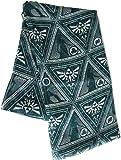 The Legend of Zelda Scarve All Over Triforce Logo Fashion Scarf Green