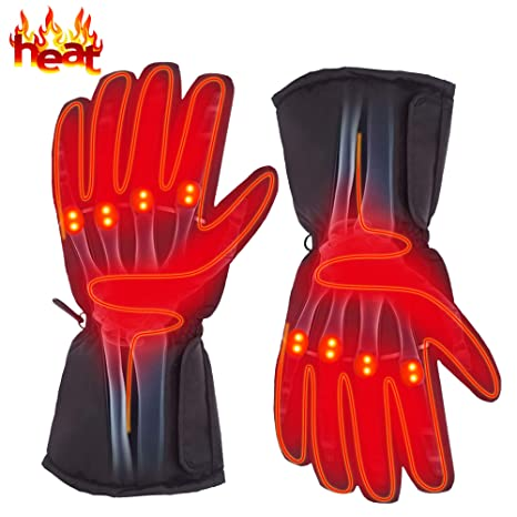 2f8d04a87f8b2 Autocastle Rechargeable Electric Battery Heated Gloves for Men and Women,Outdoor  Indoor Battery Powered Hand