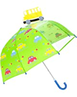 Rainbrace Umbrella Kids Fashion Childrens Dome Rain Umbrella 37-Inch for Boys and Girls with Clear Window Panel