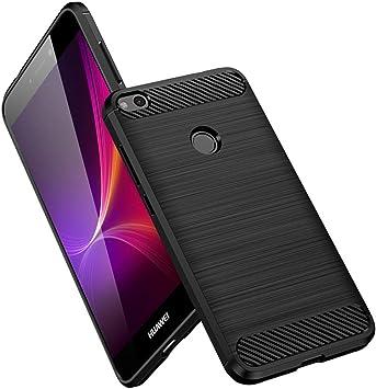 Vkaiy Funda Huawei P8 Lite 2017, Huawei P8 Lite 2017 Carcasa, Fibra de Carbono, Soft Silicona TPU Fundas Caso, Anti-Rasguño, Shockproof Totalmente Protectora Cover Case para Huawei P8 Lite 2017-Negro: Amazon.es: Electrónica