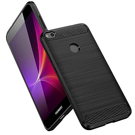 Vkaiy Funda Huawei P8 Lite 2017, Huawei P8 Lite 2017 Carcasa, Fibra de Carbono, Soft Silicona TPU Fundas Caso, Anti-Rasguño, Shockproof Totalmente ...