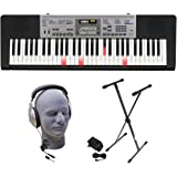 Casio Inc. LK175 PPK 61-Key Lighted Key Premium Keyboard Pack with Headphones, Power Supply and Stand