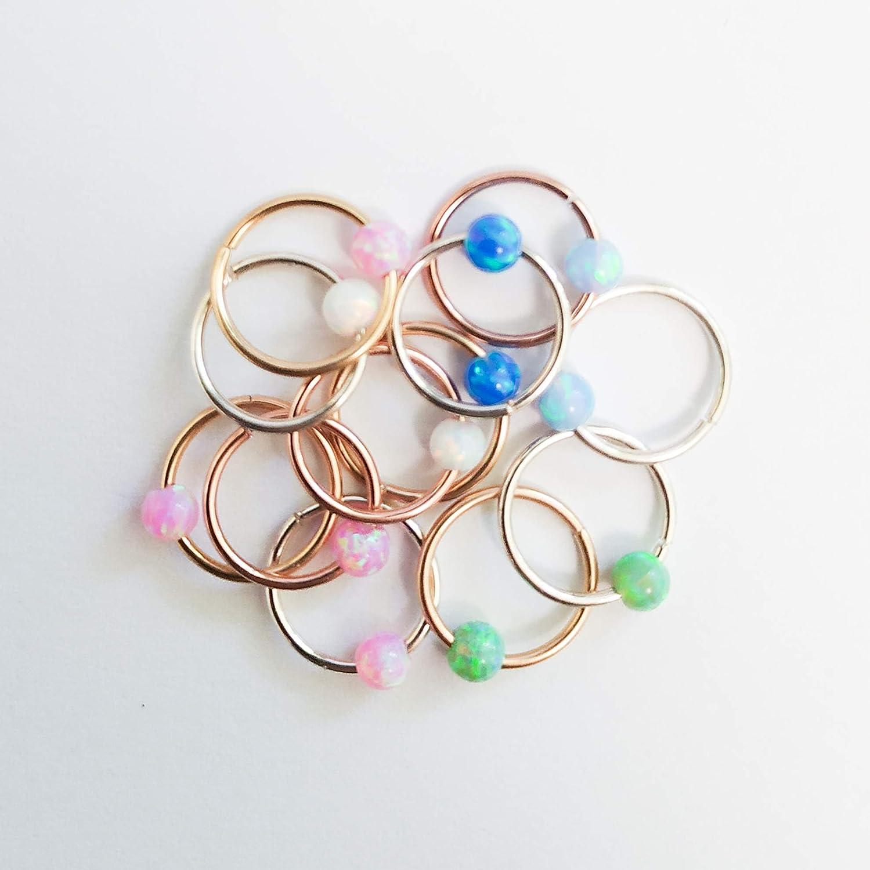 Daith Earring Piercing Jewellery Ear Ring Opal