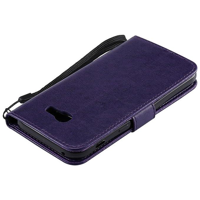 Samsung Galaxy A5 2017 Case EMAXELER Diamond Embossed Stylish Kickstand Flip Case Credit Cards Slot Cash Pockets PU Leather Flip Wallet Case For ...