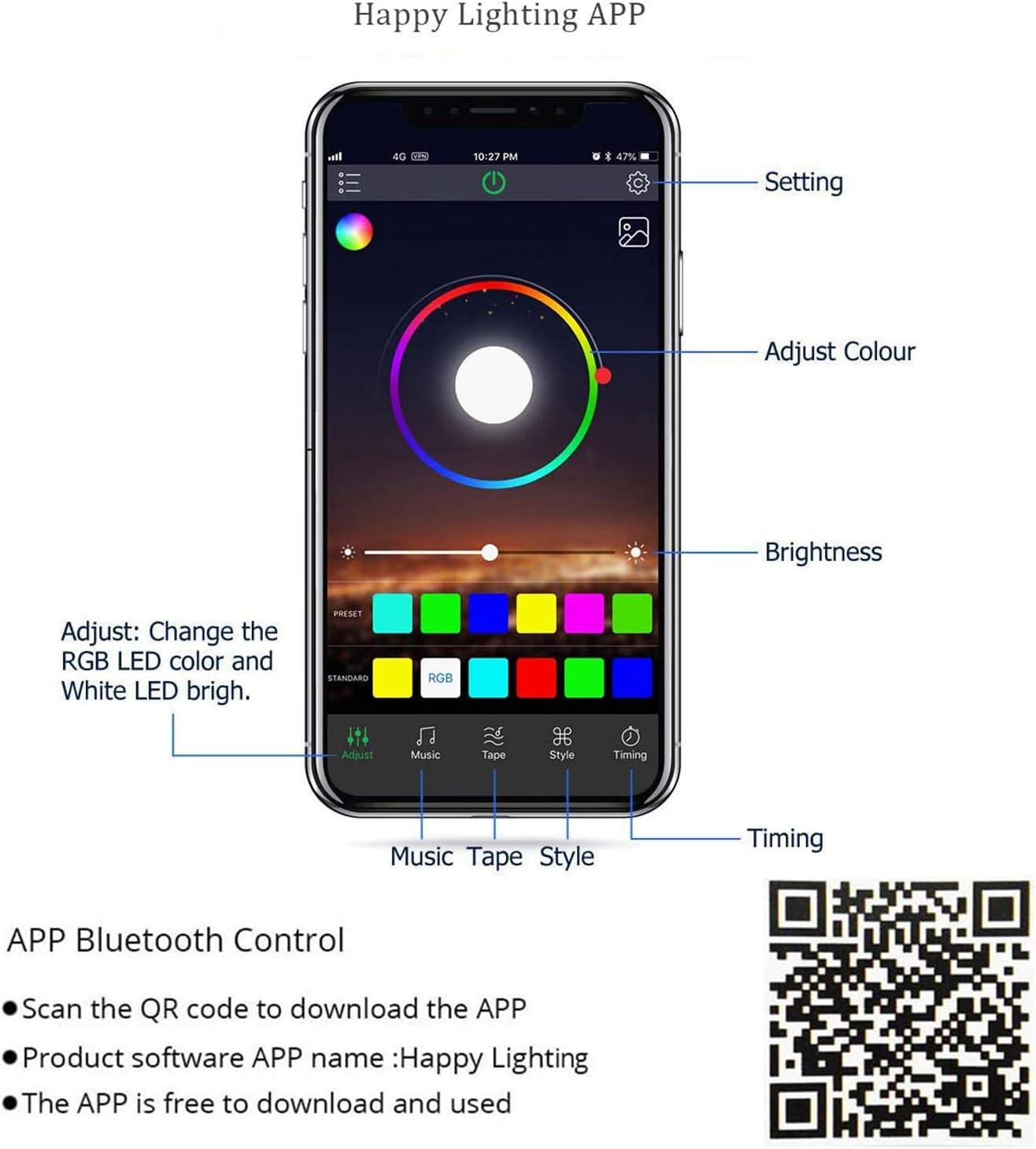 bluetooth cornhole lights set beat to music smart app control rgb 16 million colors changing 6 standard corn hole board ring lights 12 ultra