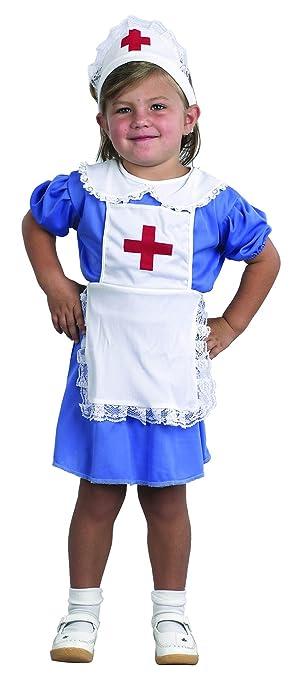 El Carnaval Disfraz Enfermera niña Talla de 2 a 4 años ...