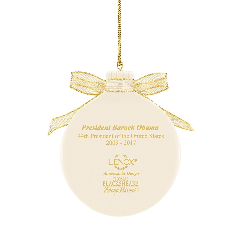 Amazon.com: Thomas Blackshear\'s President Obama Ornament by Lenox ...