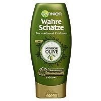 Garnier Wahre Schätze Spülung, Mythische Olive, nährt und regeneriert sehr trockenes, beanspruchtes Haar, ohne Parabene, 200 ml