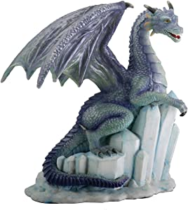 SUMMIT COLLECTION Winter Dragon on Ice Fantasy Figurine Decoration Decor Collectible