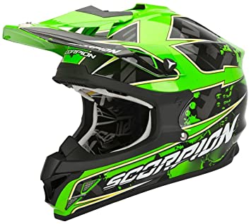 Scorpion Casco Moto, Multicolor (Magma), L