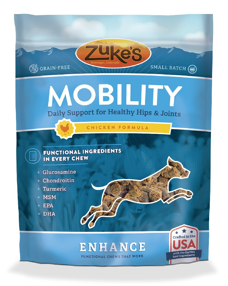 Zuke's Enhance Mobility Chicken Formula Functional Dog Chews - 5 oz. Pouch