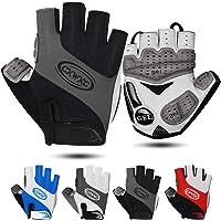 CXWXC Cycling Gloves for Men Women - Breathable Gel Road Mountain Bike Riding Gloves - Anti-Slip Half Finger Glove for…