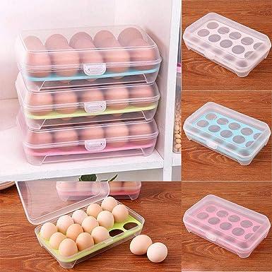etuoji - Caja de almacenamiento de huevos para frigorífico o para ...