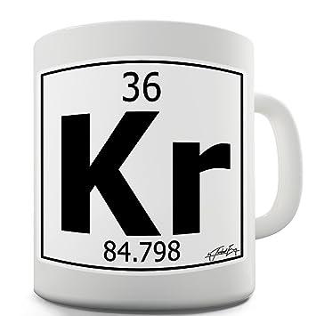 Amazon twisted envy periodic table of elements kr krypton twisted envy periodic table of elements kr krypton ceramic mug slogan funny cup 15 oz urtaz Choice Image