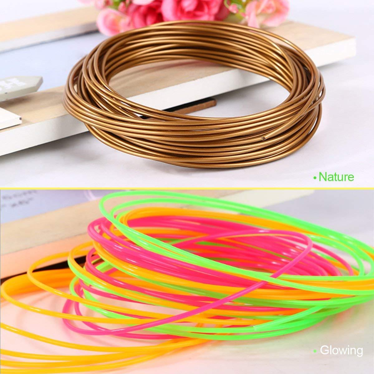 Lot de 20 Couleurs 122M au Total PCL Filament 1.75MM Fochea PCL Filament pour 3D Dessin Pour Stylo /à limpression 3D 6.1m pour Chaque Couleur