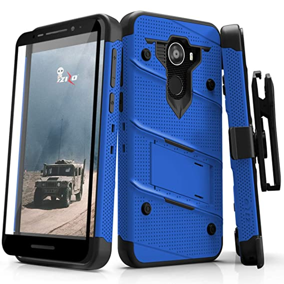Jitterbug Smart2 Heavy Duty Case Military Grade Holster Belt Clip Phone  Cover with Kickstand 12 ft Drop Tested w/Tempered Glass Screen Protector