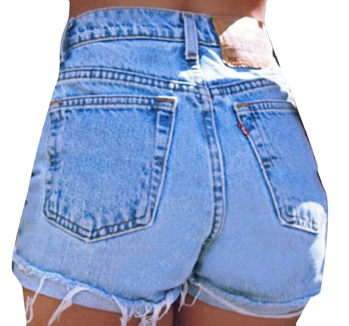 38edc7b32b Emastor Womens Denim Shorts High Waisted Distressed Jeans Shorts:  Amazon.ca: Clothing & Accessories