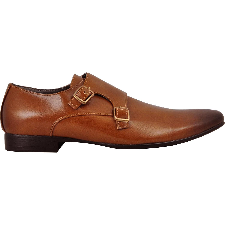 Tan Men Dress Shoe Klein-5 Fashion Loafer Leather Lining Buckles bravo