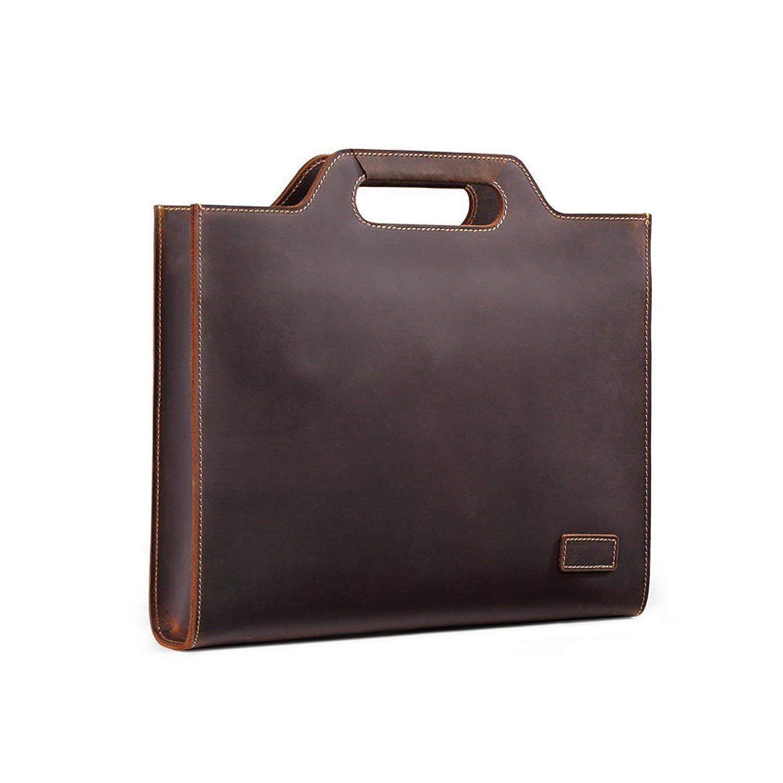 bbf9243e60d Amazon.com | New Genuine Leather Men's Handbags Retro Crazy Horse Leather  Men Tote Bag Shoulder Messenger Business Men Briefcase Laptop Bags |  Briefcases