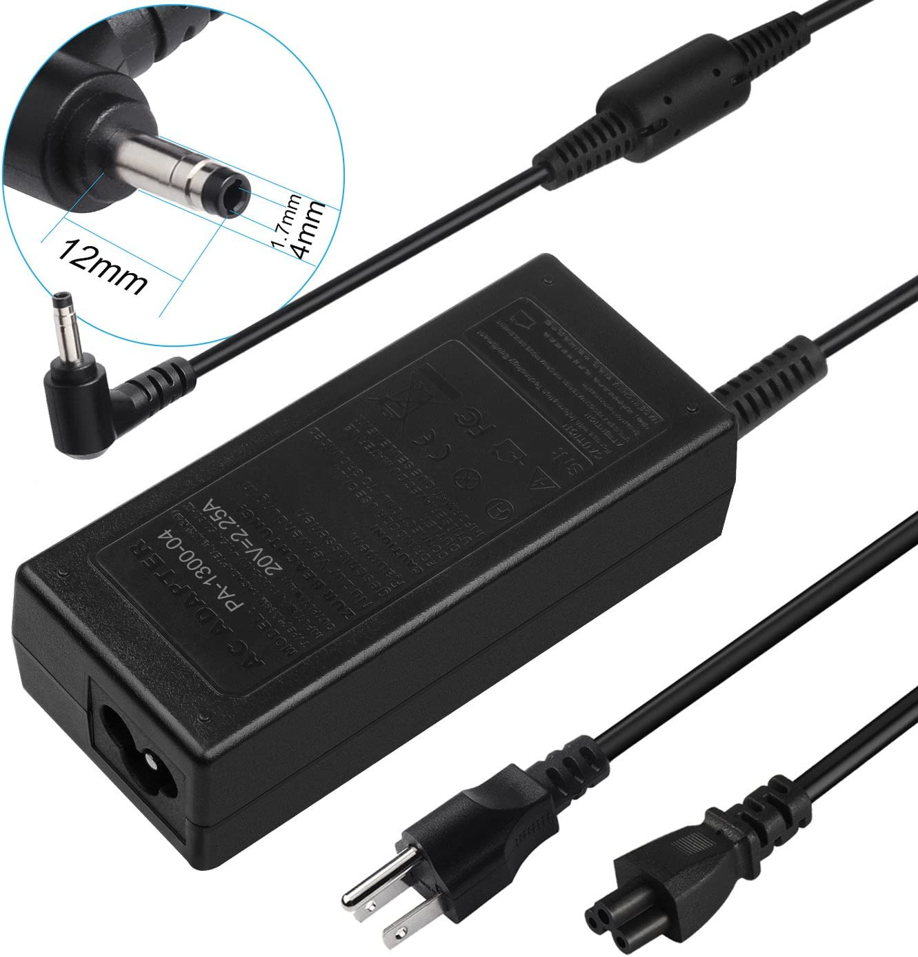 AC Charger Adapter for Lenovo IdeaPad 100s 110 310 320 330 330S 310-15ABR 310-15IKB 320-15ABR 320-15IAP 330-15ARR 330-15IGM 80XM 80XR 80XS 80XL 81FB 310S 320S 510 510S 520s 710S Laptop Power Supply