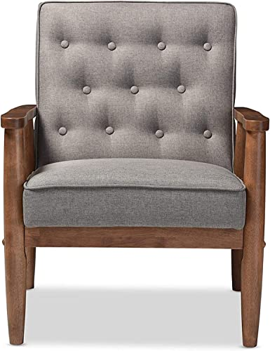 Best living room chair: Mid-Century Retro Modern Faux Leather Upholstered Wooden Lounge Chair,Home-Use Office-Use Accent Chair