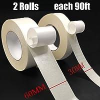 Doppelseitiges Klebeband - Doppelseitiges Klebeband Tark Haftend Extra Stark Doppelseitige Klebebänder Teppichklebeband Doppelseitiges Verlegeband für Teppich Funktioniert auf Alle Boden 30MM und 60MM x 25M 2pcs