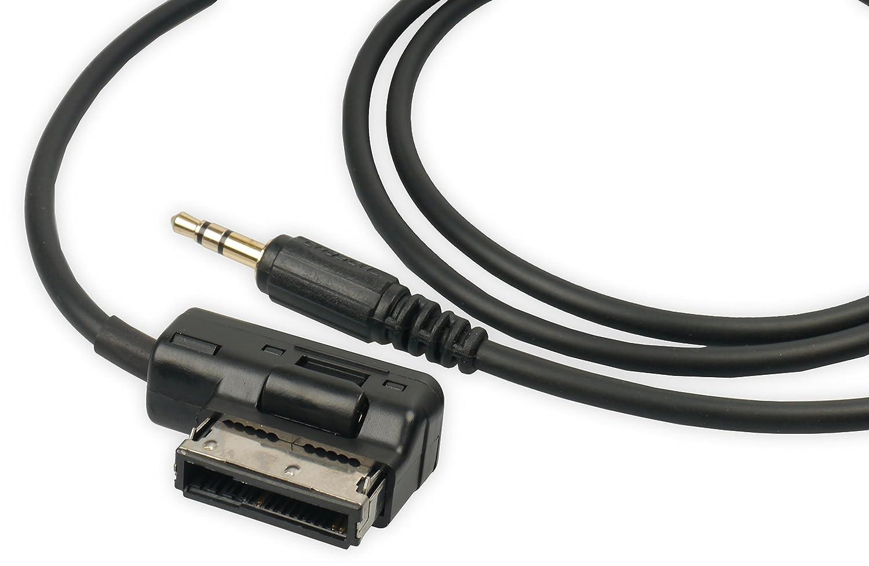 Mdi ami MMI AUX câ ble adaptateur audio sté ré o Jack 3,5 mm pour VW, Audi, Seat, Skoda 5mm pour VW TecGadgets TG0171