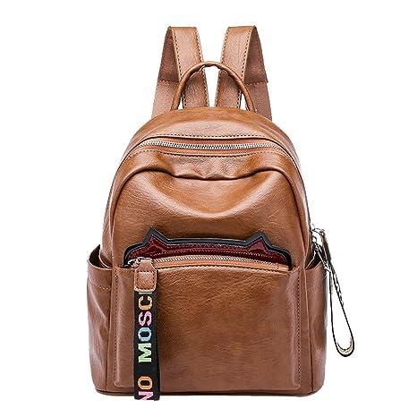felicove Mode Mujeres gato de oído Mochila hombro bolso bandolera bolsa de viaje Student Bag,