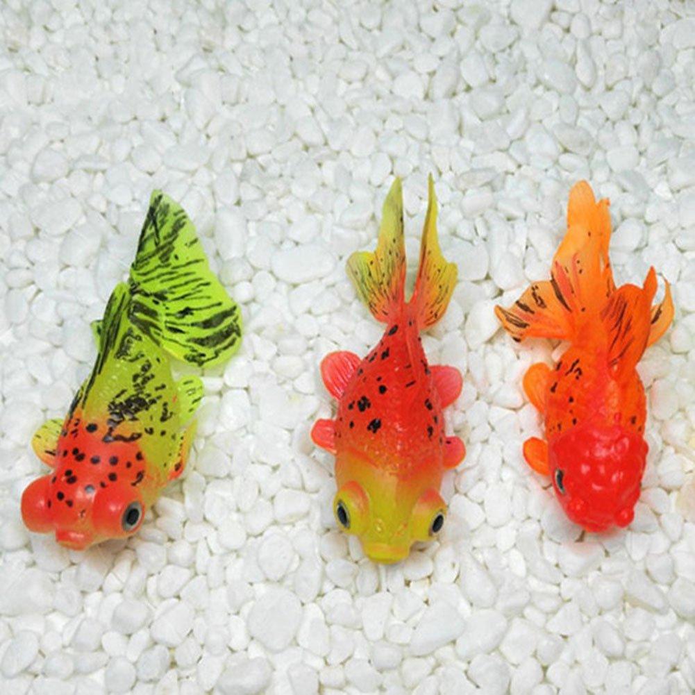 PerGrate Decorazione per acquario con acquario, in silicone artificiale, A