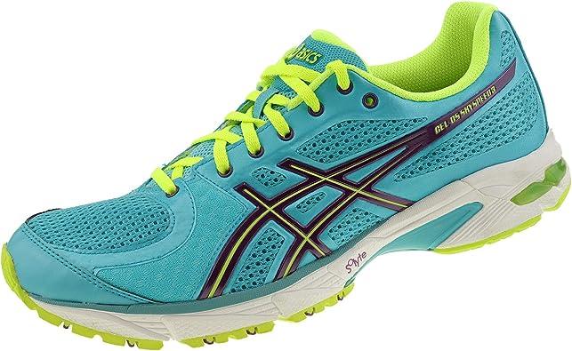 Asics DS Sky Speed 3 T2C8N4133 - Zapatillas de running para mujer, color azul, morado y amarillo, color Azul, talla 42 EU: Amazon.es: Zapatos y complementos