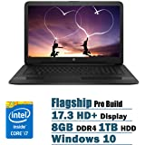 HP Flagship High Performance 17.3 inch HD+ Laptop PC, Intel Core i7-7500U Dual-Core, 2.70 GHz, 8GB DDR4, 1TB HDD, DVD RW, WIFI, Windows 10 (Black)