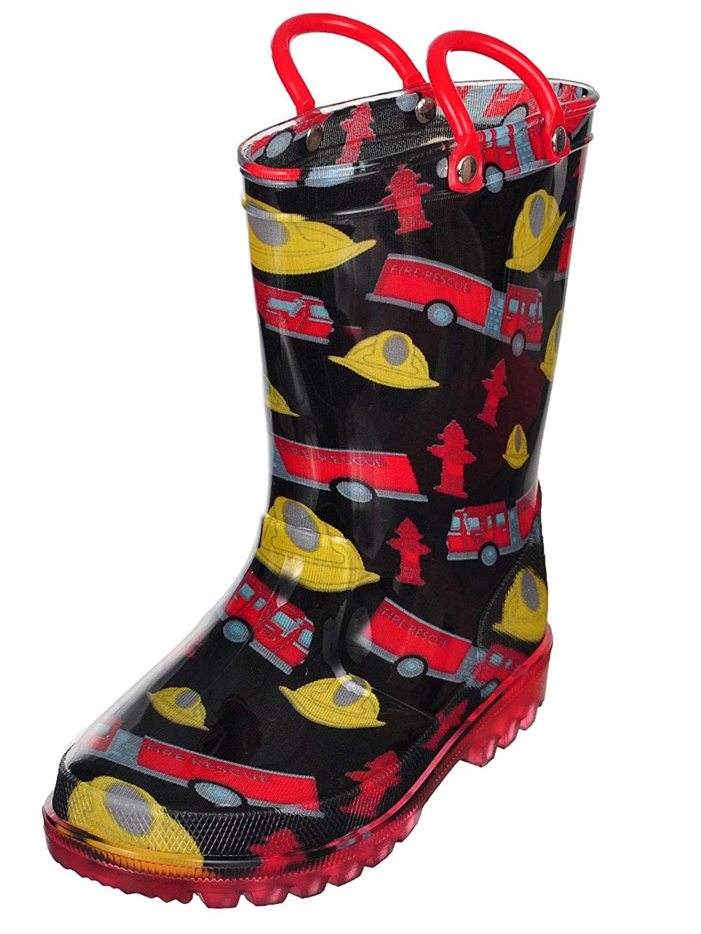 lilly Boys' Light-Up Rubber Rain Boots