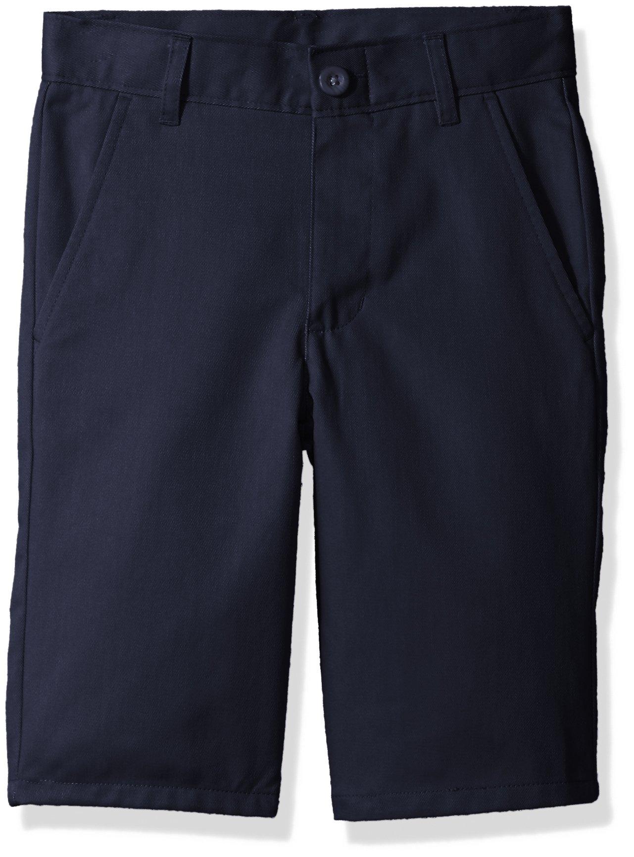 Nautica Boys' Slim Size Flat Front Twill Short, Su Navy, 14