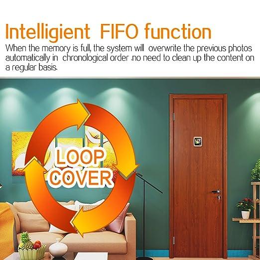 Smart Vision - Cámara de seguridad para puerta, visor WIFI electrónico, tipo oculto, antirrobo, con pantalla HD 1080P, ángulo de 160 grados, visión nocturna ...