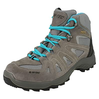 7bc97df7554 Ladies Hi-Tec Waterproof Walking Trainers Stratus Low WP - Grey ...
